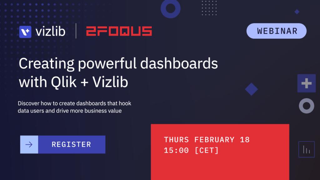 2Foqus webinar with Qlik + Vizlib