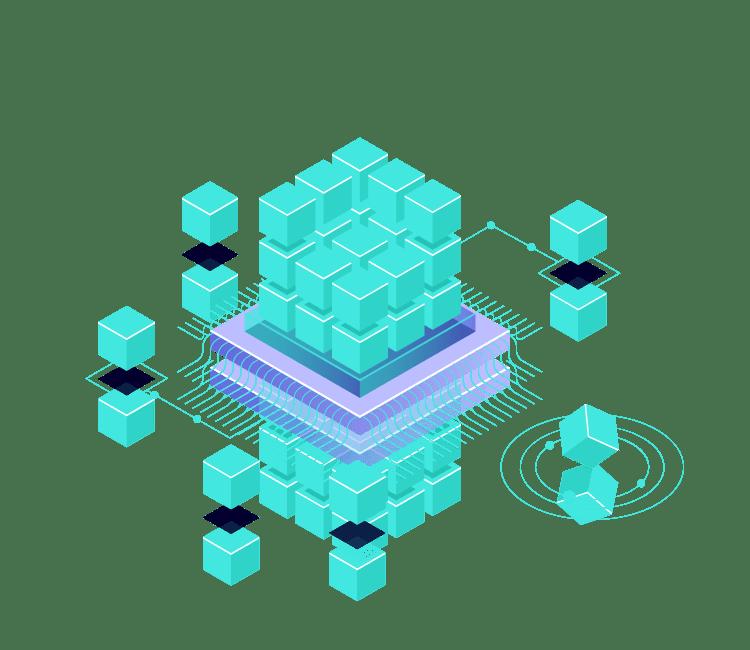 Vizlib business operations cube graphic